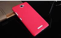 Чехол-бампер и плёнка NILLKIN для телефона Lenovo S856 красный