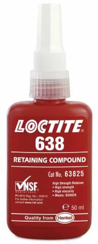 """Loctite 638 универсальный вал-втулочный фиксатор (50мл) - Интернет-магазин """"OCTAN"""" в Николаеве"""
