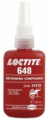 Loctite 648 термостойкий высокопрочный вал-втулочный фиксатор (50мл)