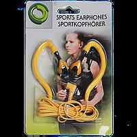 Наушники вкладыши для занатия спортом желтого цвета