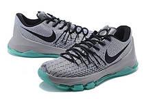 Кроссовки баскетбольные мужские Nike KD 8 Grey Black Light Blue