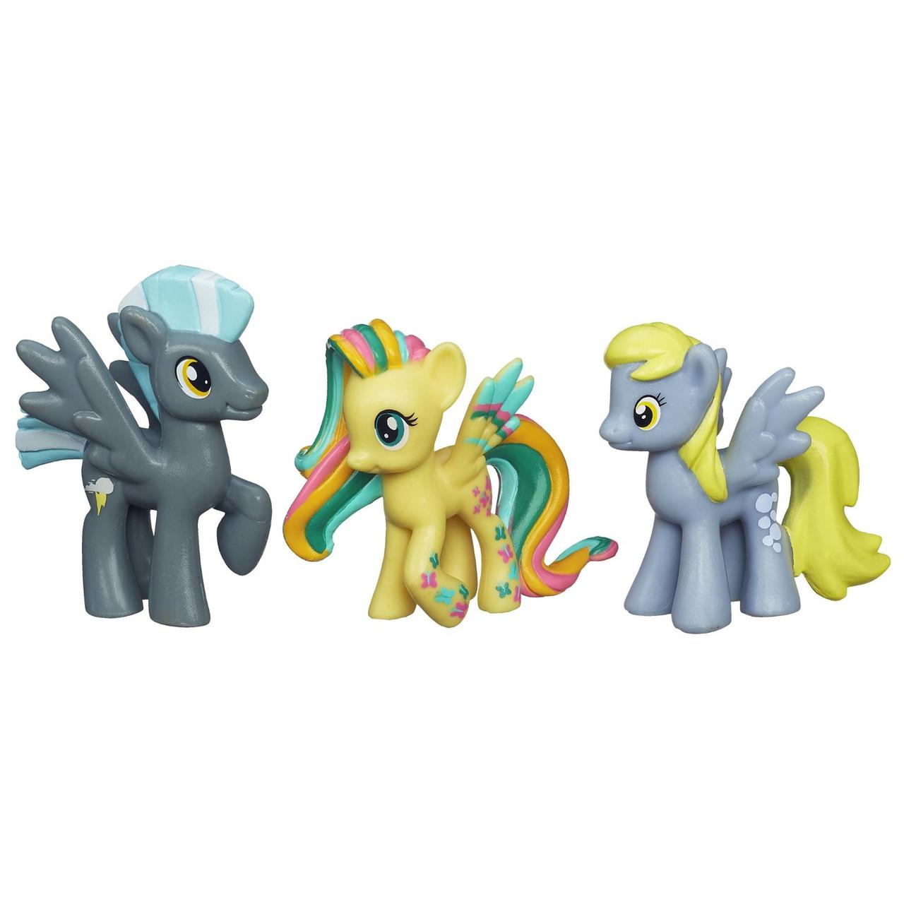 Hasbro My Little Pony  Мини-коллекция Флаттершай, Тандерлейн и Дерпи Х