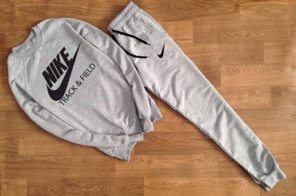 Мужской Спортивный костюм Nike Track Field серый, фото 2