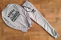 Мужской Спортивный костюм принт Adidas Originals серый
