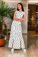 """Элегантное длинное женское платье до больших размеров 048 """"Четыре Разреза"""" в расцветках"""