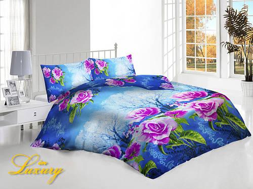 """Комплект постельного белья """"Розы в саду"""" в коробке двуспальный"""