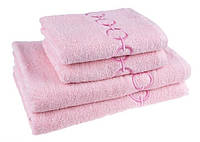 """Полотенце (50х90 см) махровое """"Браслет"""" для лица, розовое"""