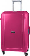 Лучший чемодан Carlton Safeguard (супер-система защиты), в наличии 3 размера Кодовый встроенный, Пластик, Carlton, Да, Чемодан, розовый
