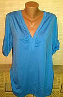 Туника женская больших размеров голубого цвета вискоза р.52