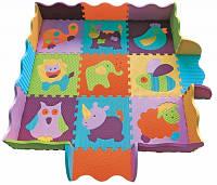 Игровой коврик-пазл «Веселый зоопарк» с бортиком