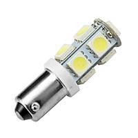 Светодиодная лампа цоколь T8 (T4W BA9s) 9-SMD 5050, 24В