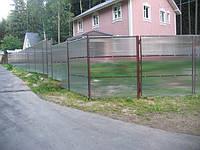 Забор сварной с поликарбонатом