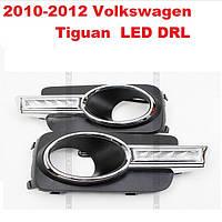 DRL дневный ходовый огни на 2010-2012 Volkswagen Tiguan, фото 1