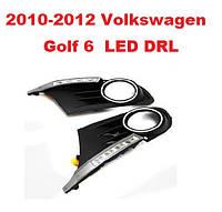 DRL дневный ходовый огни на 2010-2012 Volkswagen Golf 6, фото 1