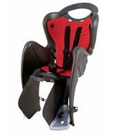 Сиденье заднее BELLELLI MR FOX Clamp Черный/красная подкладка