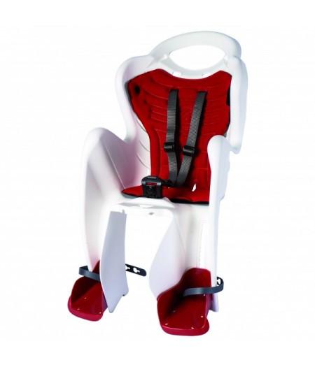 Сиденье заднее BELLELLI MR FOX Relax B-Fix Белый/красная подкладка