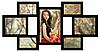 Деревянная эко мультирамка, коллаж #307 чёрный, венге, орех, белый.