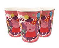 Стаканчик Свинка Пеппа в колпачке розовый