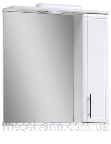 Зеркало с пеналом и подсветкой Z-1/4 60 правое