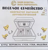 Инкубатор ВЕСЕЛОЕ СЕМЕЙСТВО с ручным переворотом, ламповый