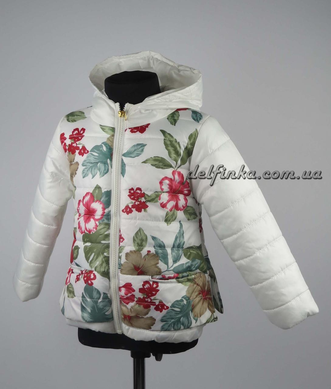 Куртка для девочек  демисизонная 3-6 лет цвет белая, фото 1