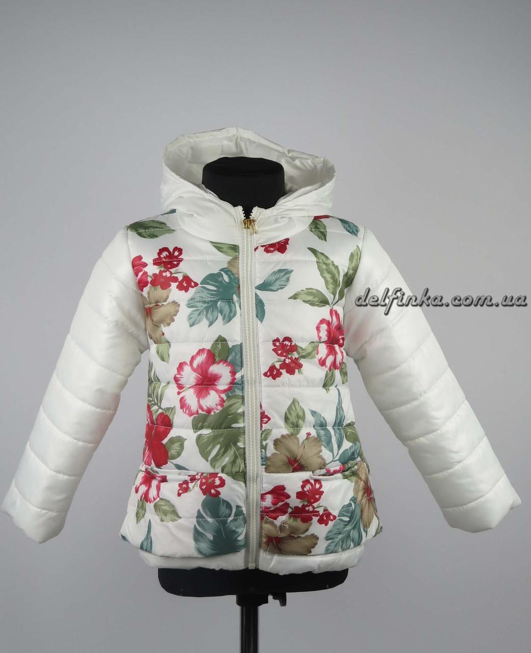Куртка для девочек  демисизонная 3-6 лет цвет белая, фото 2