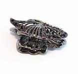 Заколка для волос Бабочка крабик бижутерный металл-6,5 см., фото 3