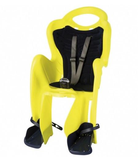 Сиденье заднее BELLELLI MR FOX Relax B-Fix Неоновый желтый/черная подкладка (Hi Vision)