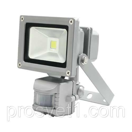Светодиодный прожектор с датчиком движения 10W Led