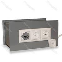 Сейф-тайник встраиваемый в стену (на 3 розетки), ВхШхГ, мм. - 150х310х150