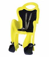 Сиденье заднее BELLELLI MR FOX Standart B-Fix  неоновый желтый/черная подкладка (Hi Vision)