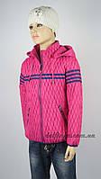 Куртка демисизонная весна-осень размеры 110-140 ( 5-10 лет) цвет малинавый, фото 1