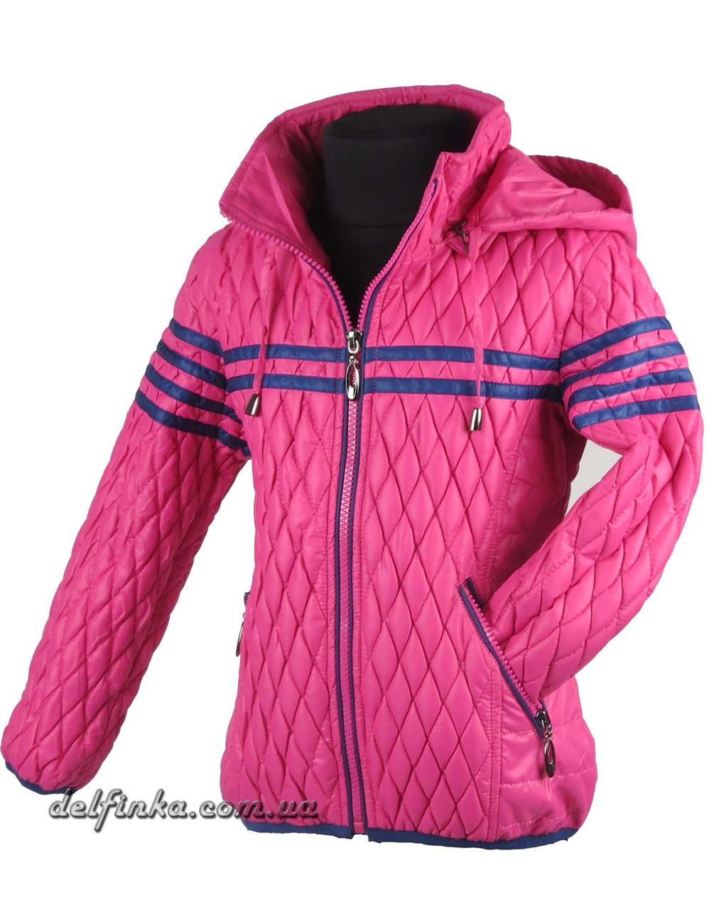 Куртка демисизонная весна-осень размеры 110-140 ( 5-10 лет) цвет малинавый, фото 2