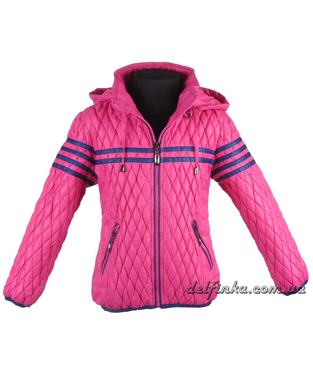 Куртка демисизонная весна-осень размеры 110-140 ( 5-10 лет) цвет малинавый, фото 3