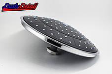 Лейка потолочная для душевого бокса и душевой кабины диаметром 250 мм. пластиковая ( L-250 ) с съемным штоком, фото 3