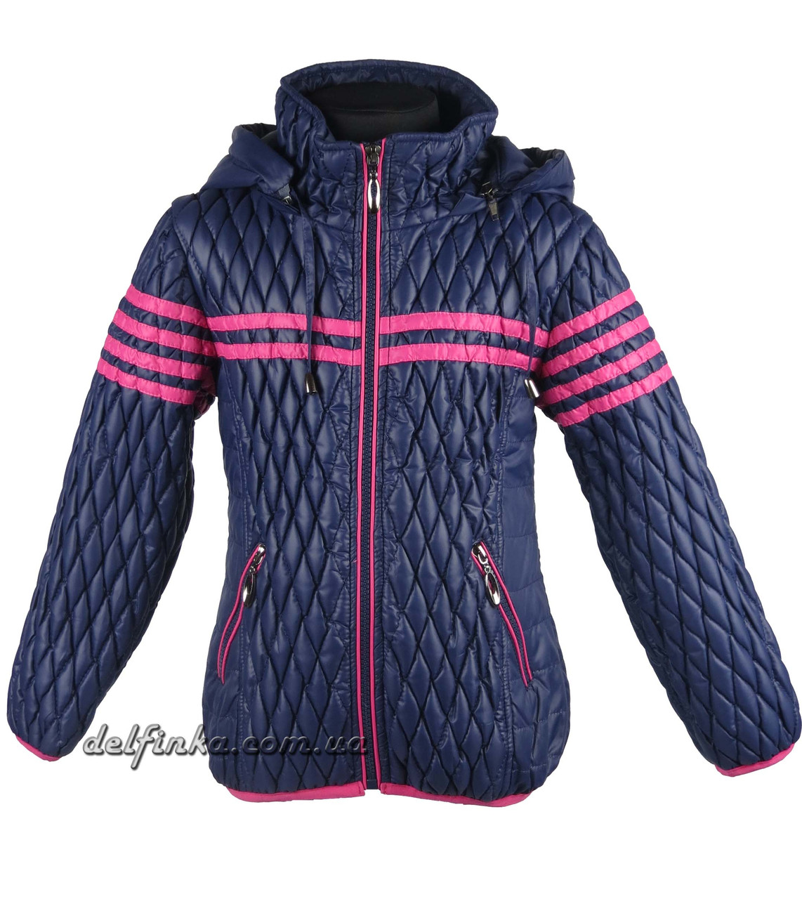 Куртка для девочек  демисизонная 5-10 лет цвет синий, фото 2