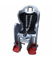 Сиденье заднее BELLELLI MR FOX standart B-Fix детское до 22кг Серый/черная подкладка