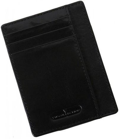Кожаный картхолдер Vip Collection K2.A.NP черный