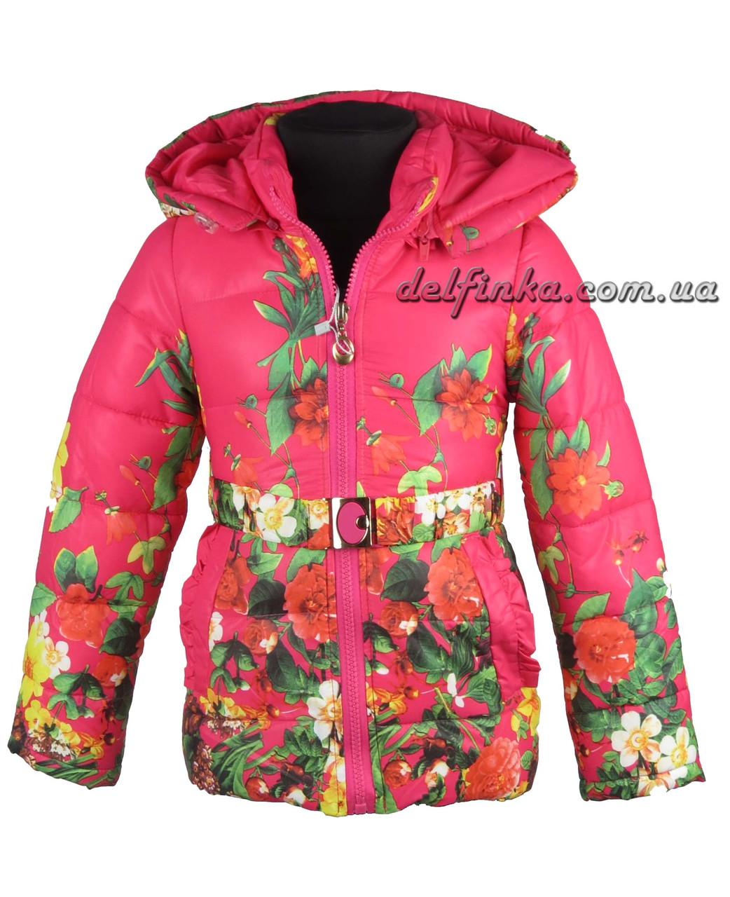 Куртка для девочек  демисизонная 2-6 лет цвет малиновый, фото 1