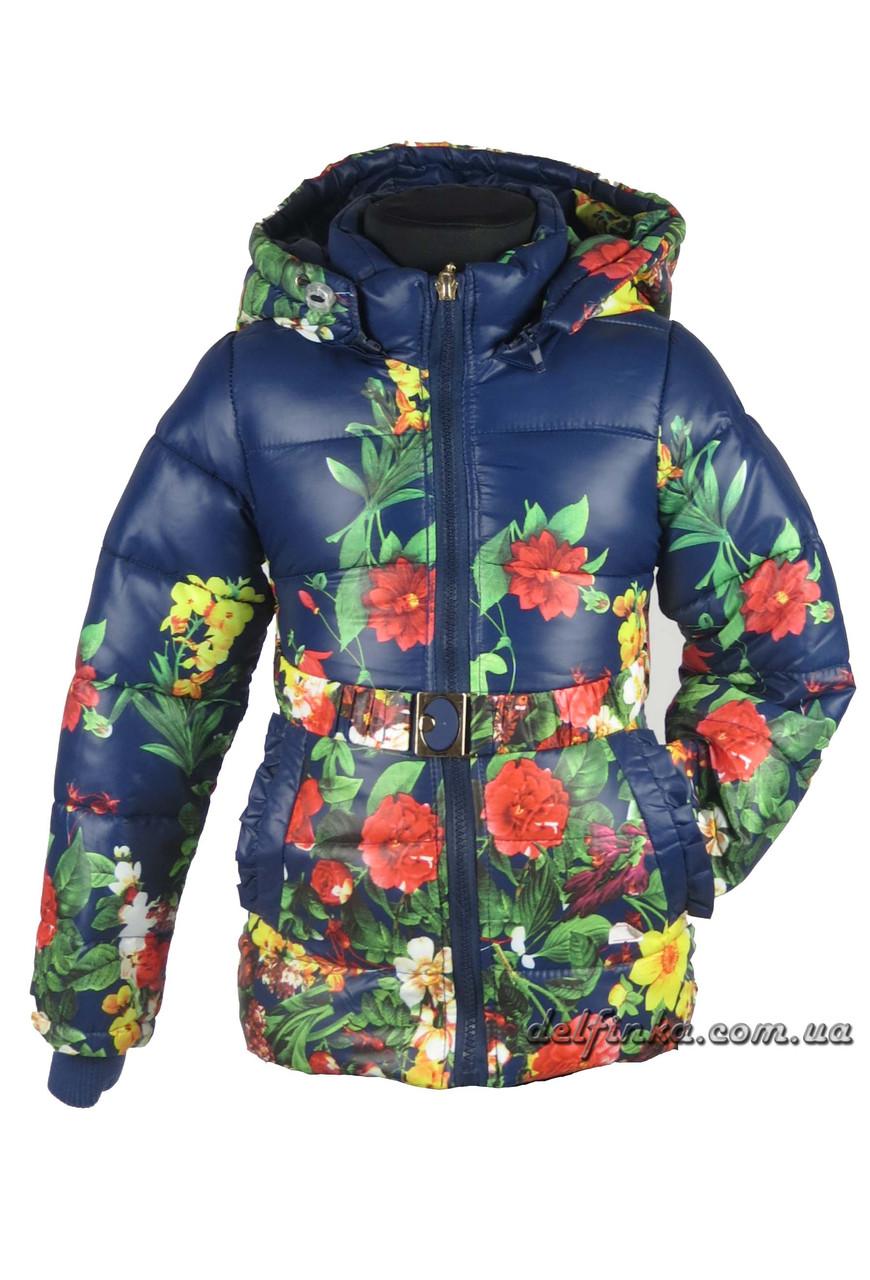 Куртка для девочек  демисизонная 2-6 лет цвет синий, фото 1