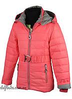 Куртка для девочек  демисизонная 4-7 лет цвет кораловый