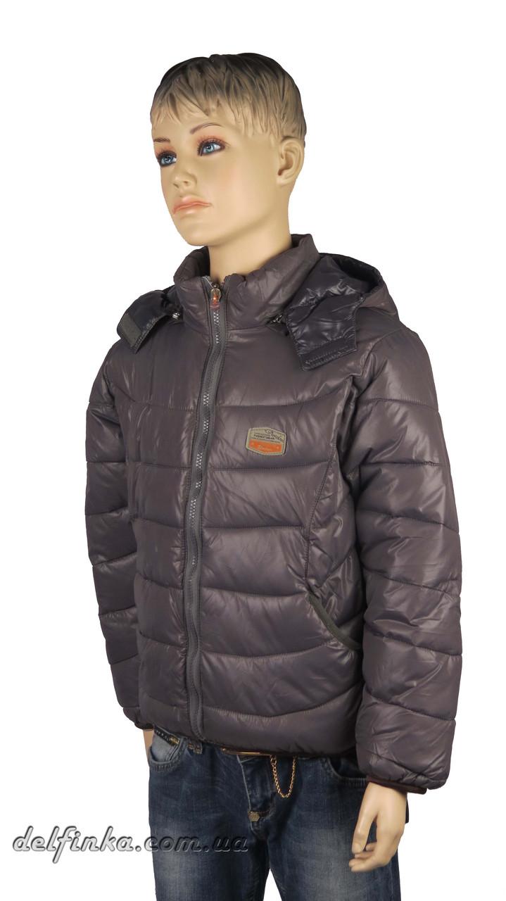 Куртка для мальчика  демисизонная 4-7 лет цвет серый, фото 1