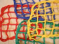 Сетка оградительная (разделительная)ячея 100х100, диаметр шнура 4,5мм, цветная, м.кв