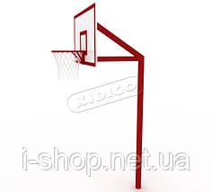 Баскетбольная стойка профессиональная без сетки SO006, фото 3