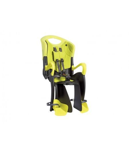 Сиденье заднее BELLELLI Tiger standart B-Fix Черно-салатовый/салатовая подкладка (HI Vision)