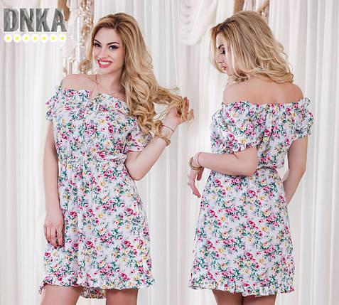 Штапельное платье в цветок, фото 2