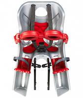 Сиденье переднее BELLELLI Freccia B-fix светло-серый/ красная подкладка