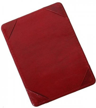 Престижный кожаный картхолдер Vip Collection K2R NP красный