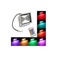 Прожектор Led 10w с цветным RGB свечением 10W