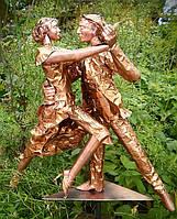 Художественный флюгер из меди «Танго в Раю»